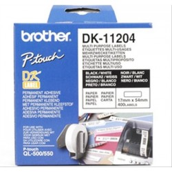 PAPEL ETIQUETAS PRECORTADAS 17X54MM BROTHER