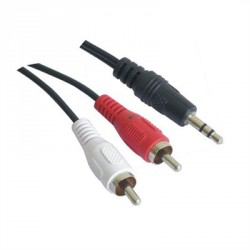 CABLE AUDIO ESTEREO 3.5/M-2RCA/M 1.5 M