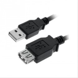 CABLE USB 2.0 A/M-A/H 3M NEGRO NANOCABLE