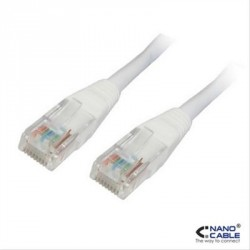 CABLE RED LATIGUILLO RJ45 CAT.5E UTP AWG24,2M BLANCO NANOCABLE